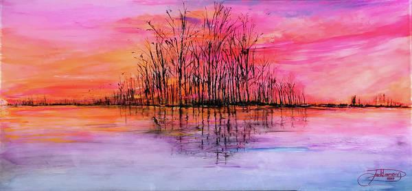 Painting - Wetland Sunset by Jack Diamond