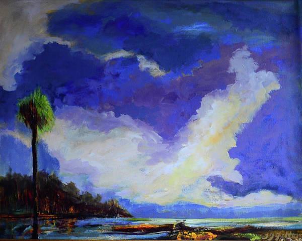 Wetlands Sky  Art Print