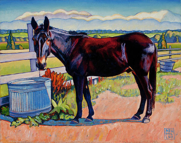 Wall Art - Painting - Wetting His Whistle by Stacey Neumiller
