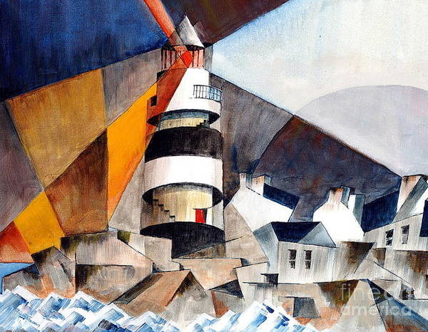 Painting - Wexford... Hookhead Lighthouse by Val Byrne