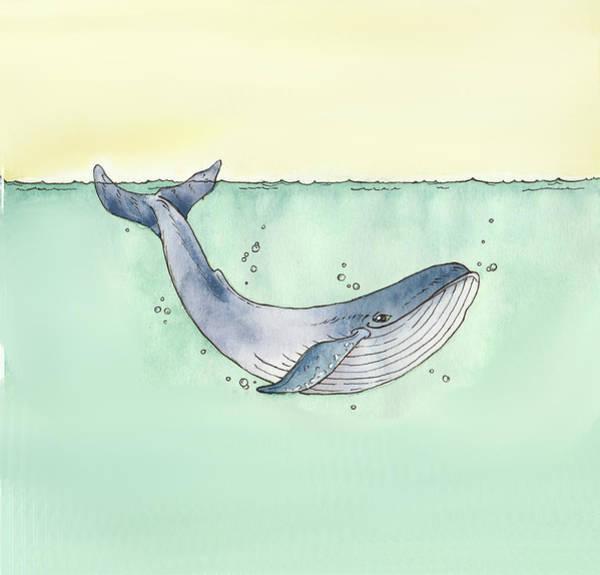 Wales Wall Art - Painting - Whale by Katrina Davis