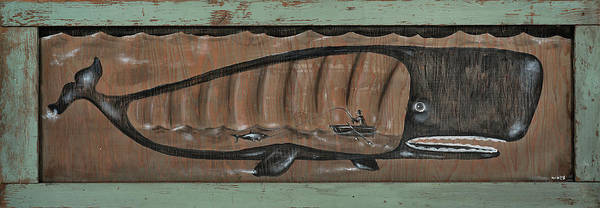 Wall Art - Painting - Whale Of A Story by Nicklos Richards
