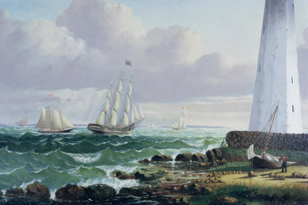 Wall Art - Painting - Whalers Coming Home by American School
