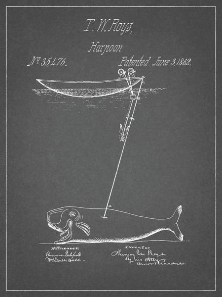 Drawing - Whaling Harpoon Design by Dan Sproul