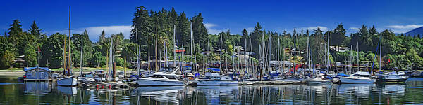 Speed Boat Digital Art - Wharf At Deep Bay by Richard Farrington