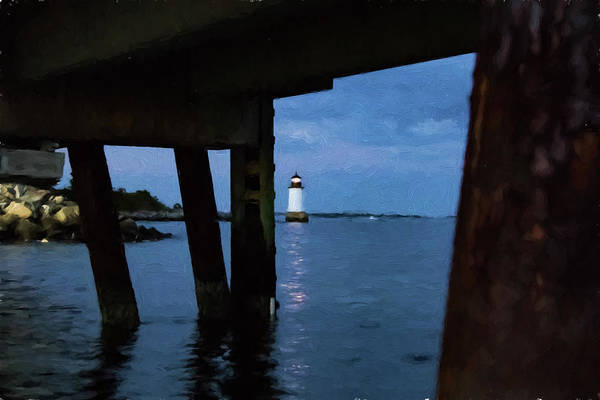 Photograph - Wharf View Of Salem Lighthouse by Jeff Folger
