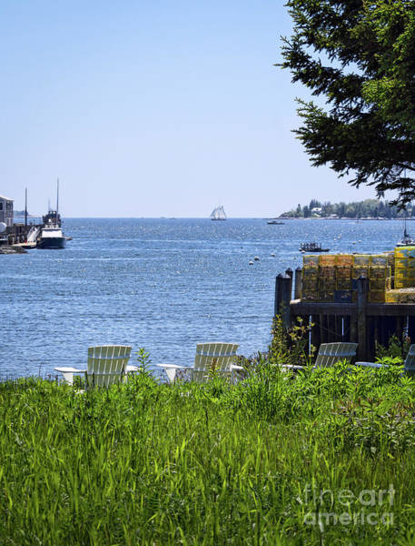 Photograph - What A View-  Boothbay Harbor, Maine  -33169 by John Bald