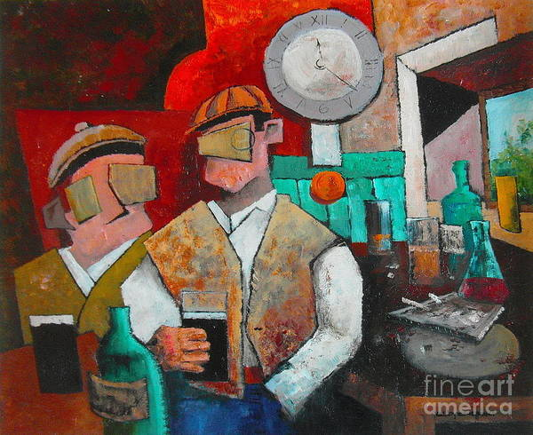 Painting - What Do Ye Reckon On Boston  ??? by Val Byrne