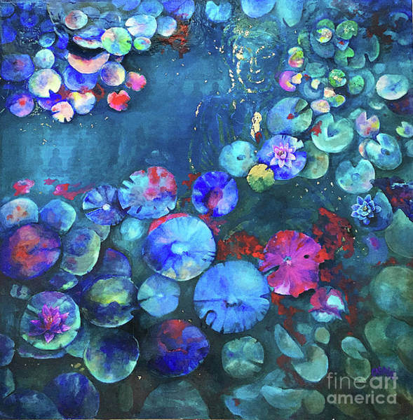 Lilly Pad Painting - What Lies Beneath by Briana Casale