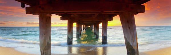 Under The Pier Photograph - What Lies Beneath by Sean Davey