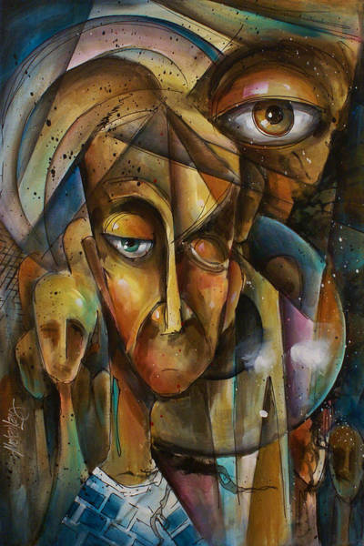 Wall Art - Painting - What by Michael Lang