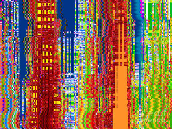 Highrise Digital Art - What On Earth Metropolis by Ann Johndro-Collins