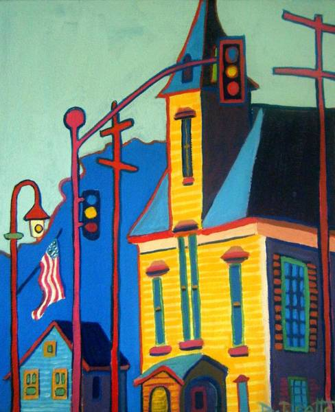 Stop Light Painting - What Once Was Old Is Now New Again Cca by Debra Bretton Robinson