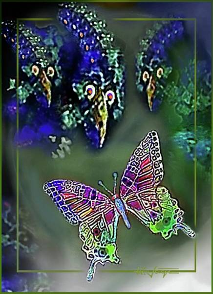 Digital Art - What  The  Butterfly  Saw by Hartmut Jager