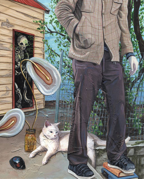 Zombie Cat Painting - What The Ground Wants by Joseph Demaree