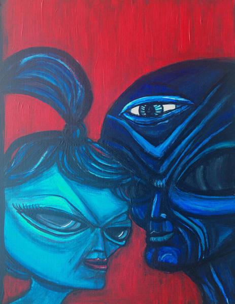 Painting - What You Looking At by Similar Alien