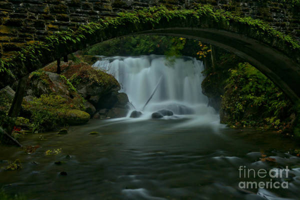 Photograph - Whatcom Falls Under The Bridge by Adam Jewell