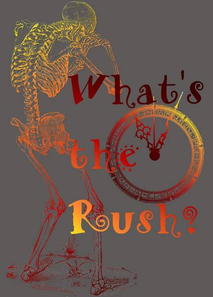 Digital Art - Whats The Rush by Robert G Kernodle