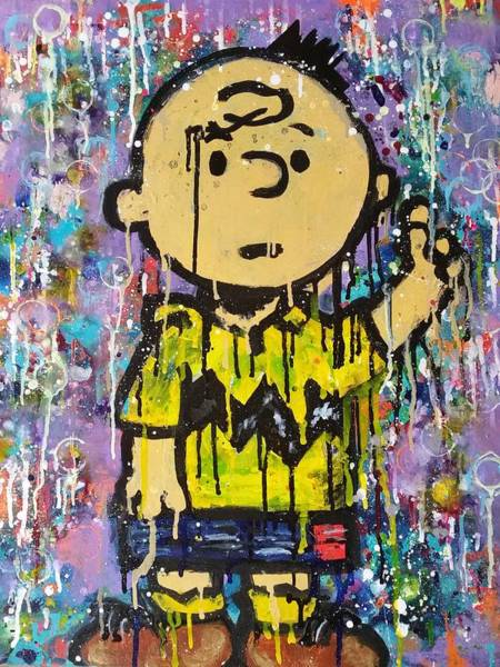Artwork Painting - What.up.chuck by A MiL