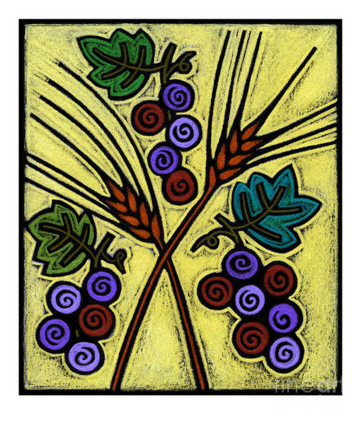 Painting - Wheat And Grapes - Jlwag by Julie Lonneman