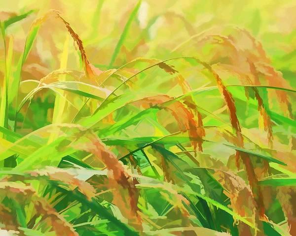Barley Painting - Wheat Field 1 by Jeelan Clark