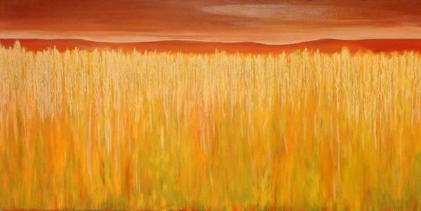 Wall Art - Painting - Wheat Field In The Summer by Aviva Moshkovich