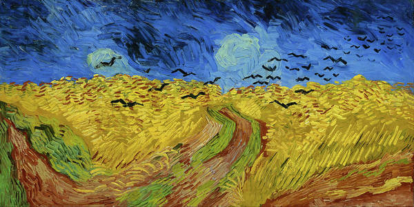 Wall Art - Painting - Wheat Field With Crows Van Gogh 1890 by Vincent Van Gogh