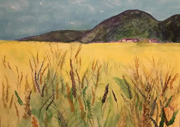 Barley Painting - Wheat Meadow by Kri Rad
