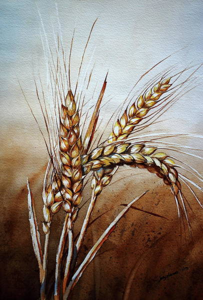 Protein Painting - Wheat Stalk by Jelly Starnes