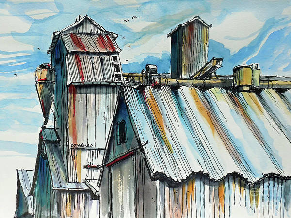 Processing Mixed Media - Wheatland High Rise by Terry Banderas