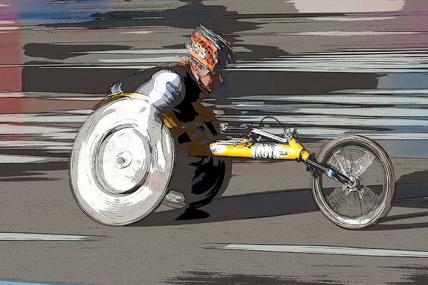 Photograph - Wheelchair Racer by Clarence Holmes