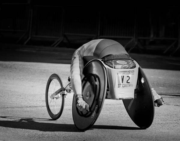 Photograph - Wheelchair Racer by Dave Beckerman
