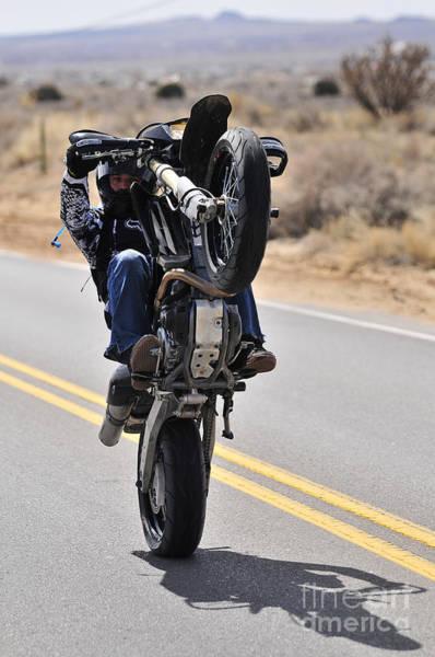 Photograph - Wheelie In The Desert by Robert WK Clark