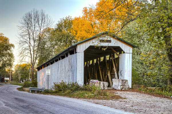 Photograph - Wheeling Covered Bridge by Jack R Perry