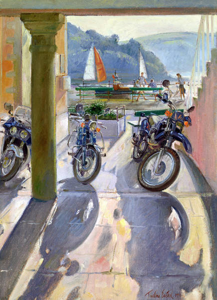 Long Shadow Painting - Wheels And Sails by Timothy Easton