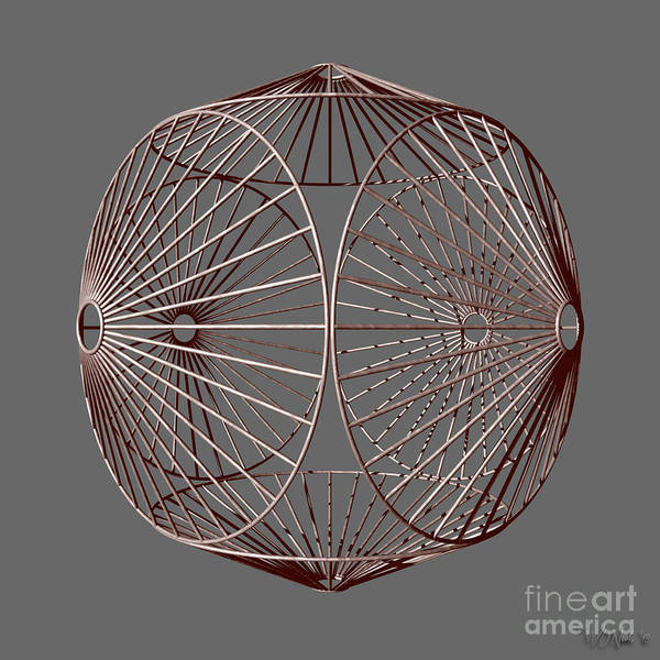 Digital Art - Cubic Wheels by Walter Neal