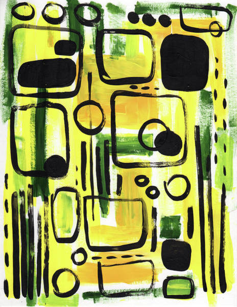 Wall Art - Painting - Bus Ride by Kristy Lankford