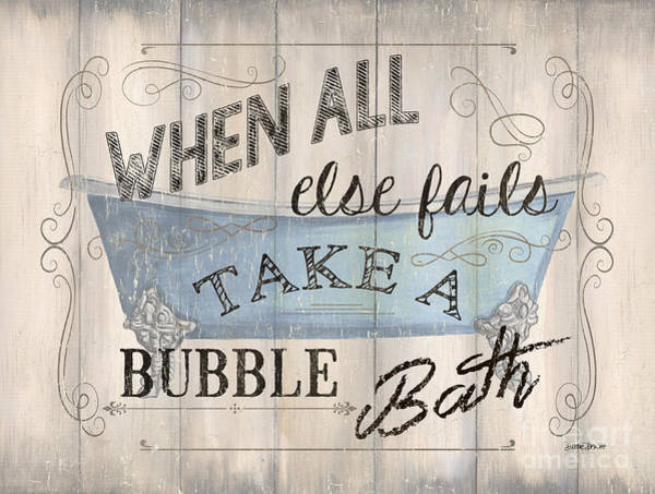 Tub Wall Art - Painting - When All Else Fails by Debbie DeWitt