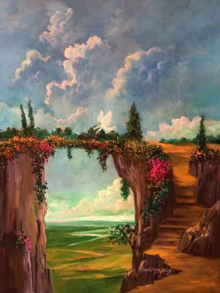 When Angels Garden In Heaven Art Print
