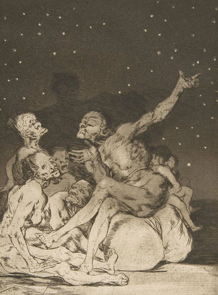 Relief - When Day Breaks We Will Be Off by Francisco Goya