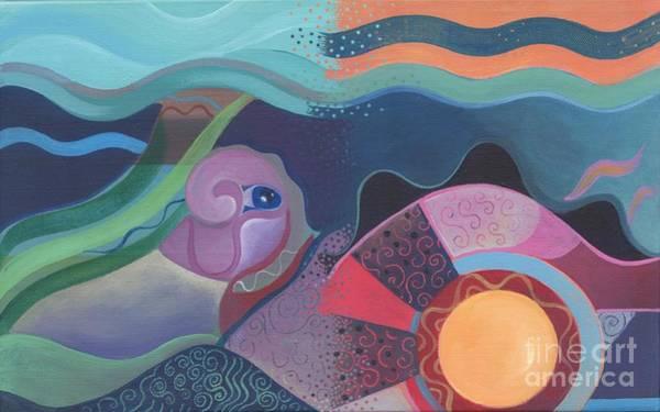 Painting - When Deep Met Flow by Helena Tiainen