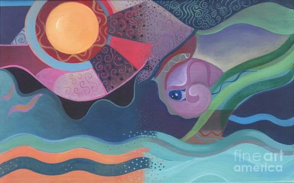 Painting - When Flow Met Deep by Helena Tiainen