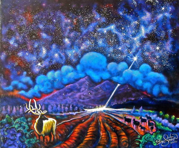 Flagstaff Painting - When Heaven And Earth Collide by Steve Lawton