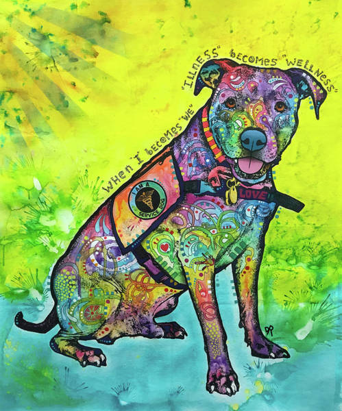 Service Dog Painting - When I Becomes We by Dean Russo Art