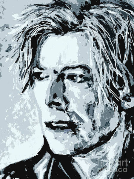 Painting - When I Met You - David Bowie by Tanya Filichkin