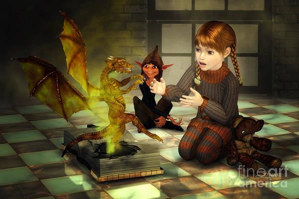 Digital Art - When Imagination Comes True by Jutta Maria Pusl