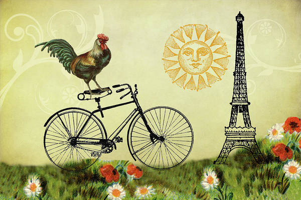Digital Art - When In Paris by Peggy Collins