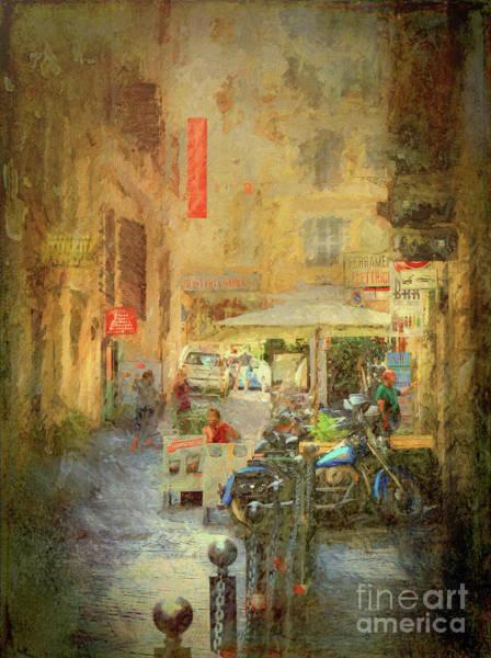 Digital Art - When In Rome 35 - Side Street by Leigh Kemp