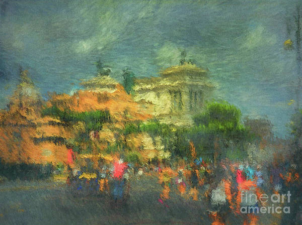 Digital Art - When In Rome 52 - Lasting Impression by Leigh Kemp