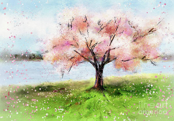 Digital Art - When It Snowed Pink Petals by Lois Bryan